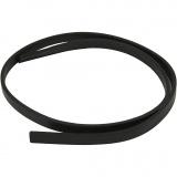 Lederband Imitat, Schwarz, B: 10 mm, Dicke 3 mm, 1 m/ 1 Pck