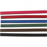 Lederband Imitat, Sortierte Farben, B: 10 mm, dicke 3 mm, 6x1 m/ 1 Pck.