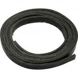 Lederband , Schwarz, B: 10 mm, dicke 3 mm, 2 m/ 1 Pck.
