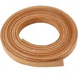 Lederband , Natur, B: 10 mm, Dicke 3 mm, 2 m/ 1 Pck