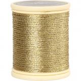 DMC Metallfaden, Gold, dicke 0,36 mm, 40 m/ 1 Rolle
