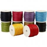 Baumwollkordel, Kräftige Farben, dicke 1 mm, 10x50 m/ 1 Pck.