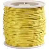 Baumwollband, Gelb, dicke 1 mm, 40 m/ 1 Rolle