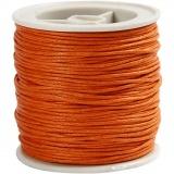 Baumwollband, Orange, dicke 1 mm, 40 m/ 1 Rolle