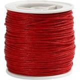 Baumwollband, Rot, dicke 1 mm, 40 m/ 1 Rolle