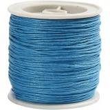 Baumwollband, Türkis, dicke 1 mm, 40 m/ 1 Rolle