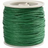Baumwollband, Grün, dicke 1 mm, 40 m/ 1 Rolle