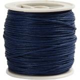 Baumwollband, Blau, dicke 1 mm, 40 m/ 1 Rolle