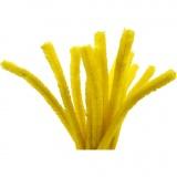 Pfeifenreiniger, Gelb, L: 30 cm, dicke 15 mm, 15 Stck./ 1 Pck.