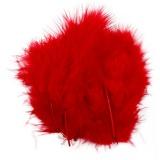Federn, Rot, Größe 5-12 cm, 15 Stck./ 1 Pck.