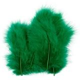 Federn, Grün, Größe 5-12 cm, 15 Stck./ 1 Pck.
