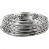 Aluminiumdraht, Silber, rund, dicke 2 mm, 100 m/ 1 Rolle