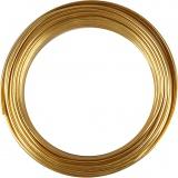 Aluminiumdraht, Gold, rund, Dicke 3 mm, 29 m/ 1 Rolle