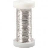 Silberdraht, Versilbert, dicke 0,3 mm, 100 m/ 1 Rolle, 50 g