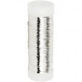 Silberdraht, Versilbert, dicke 0,2 mm, 110 m/ 1 Rolle, 50 g