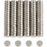 Supermagnet, D: 5 mm, dicke 2 mm, 100 Stck./ 1 Pck.