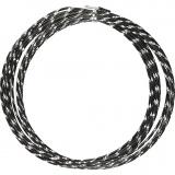 Aluminiumdraht, Schwarz, diamond-cut, dicke 2 mm, 7 m/ 1 Rolle