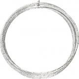 Aluminiumdraht, Silber, diamond-cut, dicke 2 mm, 7 m/ 1 Rolle