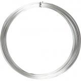 Aluminiumdraht, Silber, rund, dicke 1 mm, 16 m/ 1 Rolle