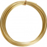 Aluminiumdraht, Gold, rund, dicke 2 mm, 10 m/ 1 Rolle