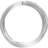 Aluminiumdraht, Silber, rund, dicke 2 mm, 10 m/ 1 Rolle