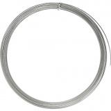Aluminiumdraht, Silber, flach, B: 3,5 mm, dicke 0,5 mm, 4,5 m/ 1 Rolle