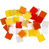Mini-Mosaik, Harmonie in Rot-Orange, Größe 10x10 mm, 25 g/ 1 Pck.