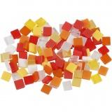 Mini-Mosaik, Harmonie in Rot-Orange, Größe 5x5 mm, 25 g/ 1 Pck.