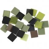 Mini-Mosaik, Grün mit Glitter, Größe 10x10 mm, 25 g/ 1 Pck.