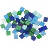 Mini-Mosaik, Harmonie in Blau-Grün, Größe 5x5 mm, 25 g/ 1 Pck.