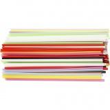 Bastelhalme, Sortierte Farben, L: 12,5 cm, D: 3 mm, 3200 Stck./ 1 Pck.