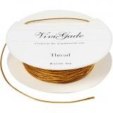 Kordel, Gold, dicke 0,5 mm, 10 m/ 1 Rolle
