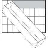 Einsetz-Box, Nr. A8-3, H: 47 mm, Größe 235x55 mm, 1 Stck.