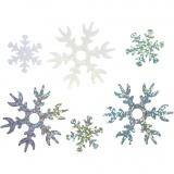 Pailletten - Sortiment, Hellblau, Silber, Weiß, D: 25+45 mm, 30 g/ 1 Pck.