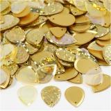Pailletten, Gold, Regentropfen, Größe 14x19 mm, 50 g/ 1 Pck.