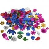 Pailletten, Kräftige Farben, Größe 15-45 mm, 400 g/ 1 Pck.