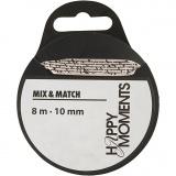 Satinband, Beige, B: 10 mm, 8 m/ 1 Rolle