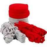 Strickschlauch, Grau, Rot, B: 10-40 mm, Inhalt kann variieren , 50 m/ 1 Pck.
