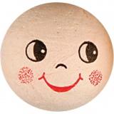 Wattekugeln mit Gesicht, D: 30 mm, 10 Stck./ 1 Pck.