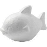Fisch, Weiß, H: 8 cm, L: 12 cm, 25 Stck./ 1 Pck.