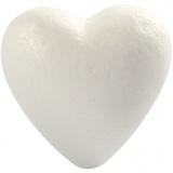 Herz, Weiß, H: 8 cm, 5 Stck./ 1 Pck.