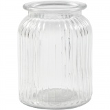 Glasgefäß, H: 14,5 cm, D: 11 cm, Lochgröße 7 cm, 6 Stck./ 1 Box