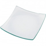 Glasplatte, Größe 11,5x11,5 cm, 12 Stck./ 1 Box