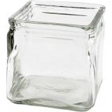 Kerzenglas, H: 10 cm, Größe 10x10 cm, 12 Stck./ 1 Box
