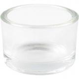 Teelichtglas, H: 3,2 cm, D: 5 cm, 48 Stck./ 1 Box