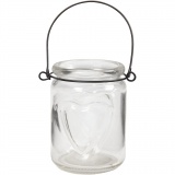 Kerzenglas, H: 9,5 cm, D: 6,5 cm, 12 Stck./ 1 Box