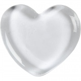 Herz, Transparent, Größe 6,5x6,5 cm, dicke 10 mm, 20 Stck./ 1 Box