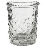 Kerzenglas, H: 7,8 cm, D: 6,4 cm, 100 ml, 6 Stck./ 1 Box