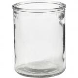 Kerzenglas, H: 9,8 cm, D: 8 cm, 6 Stck./ 1 Box