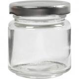Aufbewahrungsglas, Transparent, H: 6,5 cm, D: 5,7 cm, 100 ml, 12 Stck./ 1 Box